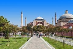 Hagia Sophia. ISTANBUL, TURKEY - SEPTEMBER 09, 2014: Hagia Sophia on September 09, 2014 in Istanbul, Turkey. Hagia Sophia is the greatest monument of Byzantine royalty free stock image