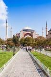 Hagia Sophia. ISTANBUL, TURKEY - SEPTEMBER 09, 2014: Hagia Sophia on September 09, 2014 in Istanbul, Turkey. Hagia Sophia is the greatest monument of Byzantine royalty free stock photos