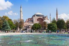 Hagia Sophia. ISTANBUL, TURKEY - SEPTEMBER 09, 2014: Hagia Sophia on September 09, 2014 in Istanbul, Turkey. Hagia Sophia is the greatest monument of Byzantine stock photography