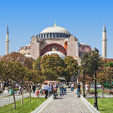 Hagia Sophia. ISTANBUL, TURKEY - SEPTEMBER 09, 2014: Hagia Sophia on September 09, 2014 in Istanbul, Turkey. Hagia Sophia is the greatest monument of Byzantine stock photos