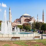 Hagia Sophia. ISTANBUL, TURKEY - SEPTEMBER 09, 2014: Hagia Sophia on September 09, 2014 in Istanbul, Turkey. Hagia Sophia is the greatest monument of Byzantine stock image