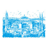 Hagia Sophia in Istanbul, Turkey. Stock Photo