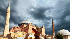 Hagia Sophia in Istanbul. The world famous monument of Byzantine architecture. stock footage