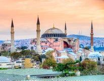 Hagia Sophia Mosque, Istanbul, Turkey. Hagia Sophia in Istanbul. The world famous monument of Byzantine architecture. Turkey Royalty Free Stock Photos