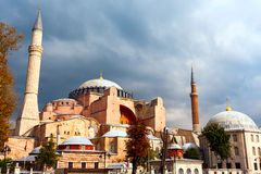 Hagia Sophia in Istanbul. The world famous monument of Byzantine architecture. View of the St. Sophia Cathedral at Stock Photos