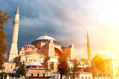 Hagia Sophia in Istanbul. The world famous monument of Byzantine architecture. View of the St. Sophia Cathedral at Stock Images
