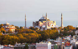 Hagia Sophia in Istanbul. The world famous monument of Byzantine architecture. View of the St. Sophia Cathedral at Stock Photography
