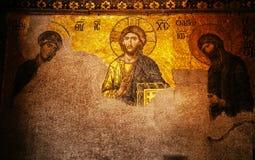Hagia Sophia Jesus Christ Pantocrator interior extraordinario, De Imágenes de archivo libres de regalías