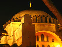 Hagia Sophia la nuit Photos stock