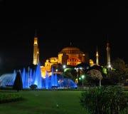 Hagia Sophia la nuit Image libre de droits
