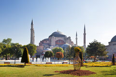 Hagia Sophia is the last big building of the late antiquity. And the main church of the Byzantine empire, today a main landmark of Istanbul Stock Photo