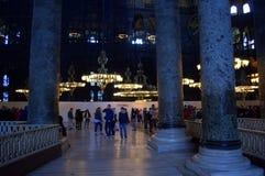 Hagia Sophia marble pillars Stock Images