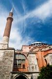 Hagia Sophia minaret Stock Photo