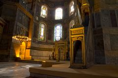 Hagia Sophia Minbar Interior Istanbul Royalty Free Stock Photo