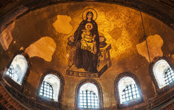 Hagia Sophia. Mosaics inside the famous Basilica of Hagia Sophia in Istanbul, Turkey Stock Photography