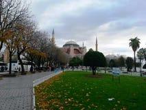 Hagia Sophia moské eller en kyrka, moské för muselmaner, grekkyrka Royaltyfri Bild