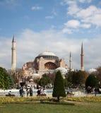 Hagia Sophia Mosque. The big Hagia Sophia mosque in Istanbul Turkey Stock Image
