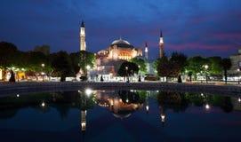Hagia Sophia Mosque en el crepúsculo Foto de archivo libre de regalías