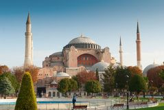 Hagia sophia mosque exterior Royalty Free Stock Photography