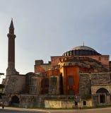 Hagia sophia mosque exterior in istanbul turkey Stock Photo