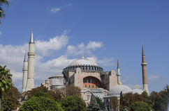 Hagia sophia mosque exterior in istanbul turkey Stock Image