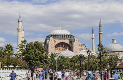 Hagia sophia mosque exterior in istanbul turkey Stock Images