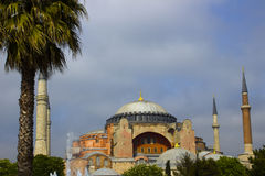 Hagia Sophia mosque exterior Royalty Free Stock Photo