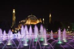 Hagia Sophia Mosque im Hintergrund des Brunnens Stockfotos