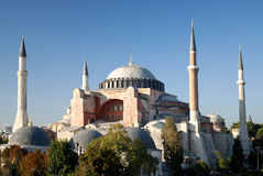 Hagia sophia mosque in instanbul turkey Royalty Free Stock Image
