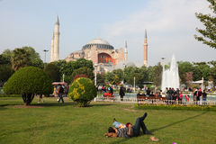 Hagia Sophia Mosque in Istanbul Royalty Free Stock Images