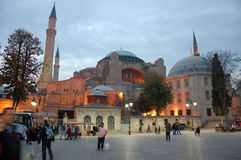 Hagia Sophia Mosque. The Hagia Sophia Mosque in Istanbul at the evening Royalty Free Stock Image