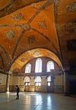Hagia Sophia Mosque Istanbul Interior Arcs. Interior view of Hagia Sophia Mosque Istanbul Panoramic stock photo