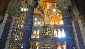 Hagia Sophia Mosque Istanbul Interior Dome. Interior view of Hagia Sophia Mosque Istanbul Panoramic royalty free stock photos