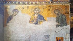 Hagia Sophia Mosque Istanbul Panoramic. Interior view of Hagia Sophia Mosque Istanbul Panoramic stock images