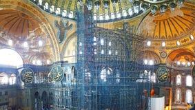 Hagia Sophia Mosque Istanbul Panoramic. Interior view of Hagia Sophia Mosque Istanbul Panoramic stock photos