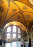Hagia Sophia Mosque Istanbul Panoramic. Interior view of Hagia Sophia Mosque Istanbul Panoramic stock image
