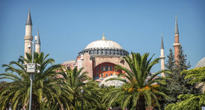 Hagia Sophia mosque in Istanbul, Turkey Royalty Free Stock Photography