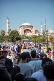 Hagia Sophia mosque in Istanbul, Turkey Royalty Free Stock Photos