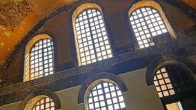 Hagia Sophia Mosque Istanbul Windows. Interior view of Hagia Sophia Mosque Istanbul Panoramic royalty free stock image