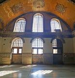Hagia Sophia Mosque Istanbul Windows. Interior view of Hagia Sophia Mosque Istanbul Panoramic stock images