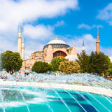 Hagia Sophia, mosque and museum in Istanbul, Turkey. royalty free stock images