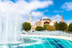 Hagia Sophia, mosque and museum in Istanbul, Turkey. Royalty Free Stock Photo