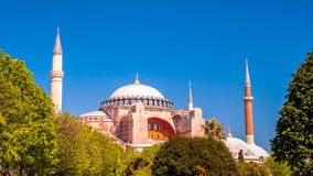 Hagia Sophia mosque in Sultanahmet Square, Istanbul, Turkey. Royalty Free Stock Photography
