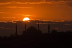 Hagia Sophia Mosque Sunset Image libre de droits