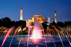 Hagia Sophia na noite fotos de stock