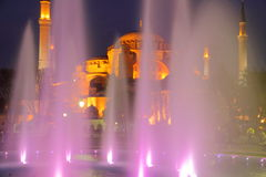 Hagia Sophia na noite, imagem de HDR Fotografia de Stock