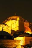 Hagia Sophia Nacht genauer Stockbilder