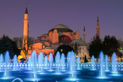 Hagia Sophia in the night Royalty Free Stock Photo