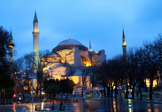 Hagia Sophia at night, Istanbul. Royalty Free Stock Photos