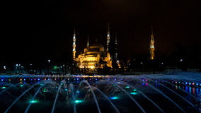 Hagia Sophia at night. Night view of Hhodox church than agia Sophia in Instanbul. Built in 537, it served as an Eastern Orthodox cathedral till 1453 when it Stock Photos